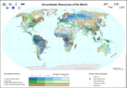 High Detail Current & Future Global Groundwater Map